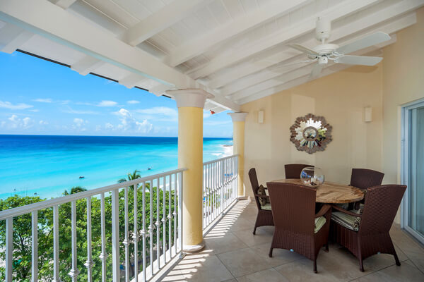 Sapphire Beach #505 has a great patio with ocean views