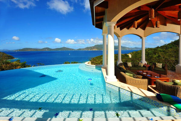 Andara Villa has amazing views over Haulover Bay