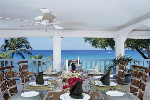 Private dining on your own patio at Villas on the Beach