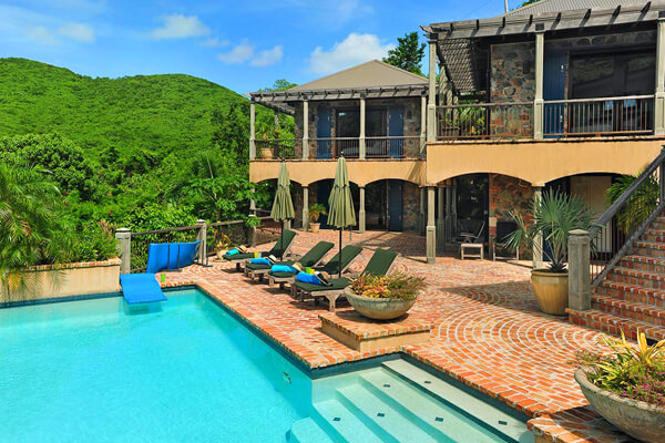 Francis Bay Estate Villa is surrounded by lush tropical greenery