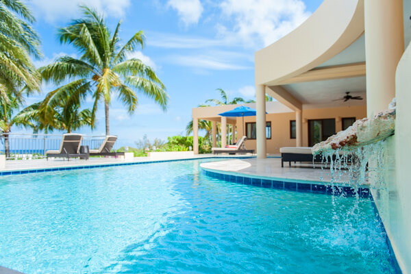 The pool at Zebra villa is private and relaxing