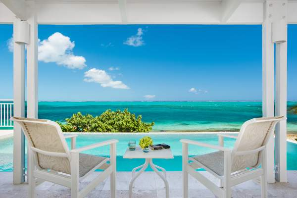 From the patio at Sandstone you have endless Caribbean views