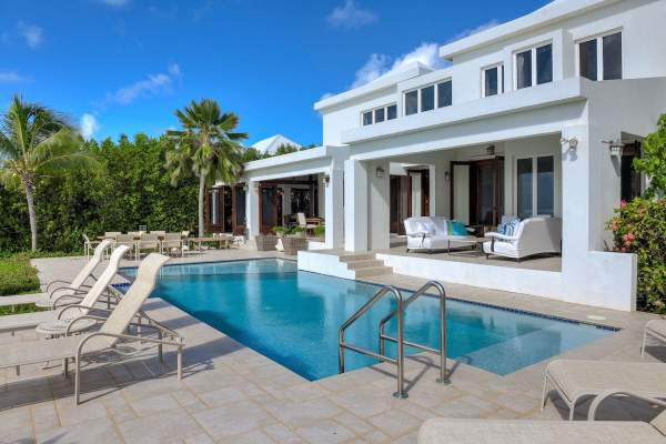 Amazing pool and patio area at Beach Escape Villa