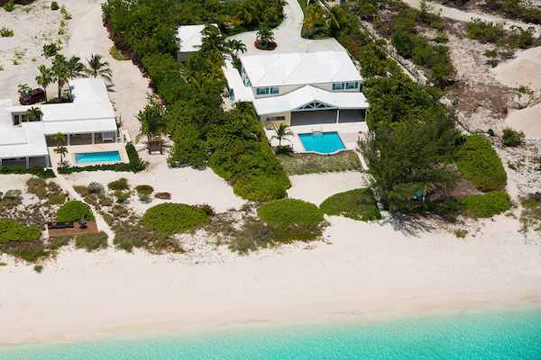 Serenity House Villa is located directly on Grace Bay Beach