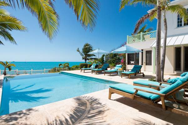 Enjoy amazing views of the Caribbean from the pool at Turquesa Villa