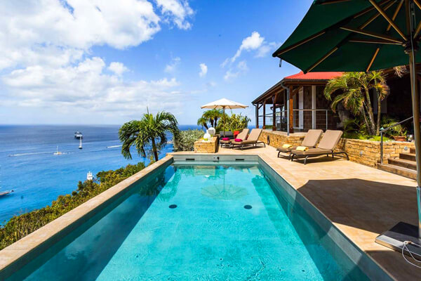 Perched on the hillside of Colombier - Hurakan provides beautiful views of Gustavia Harbour