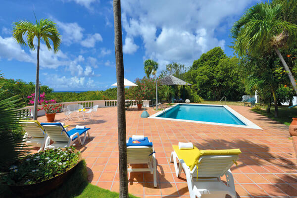 The private pool at Les Zephyrs offers your own tropical getaway