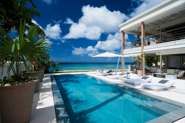 Luxurious pool just steps away from the beach at The Dream Villa