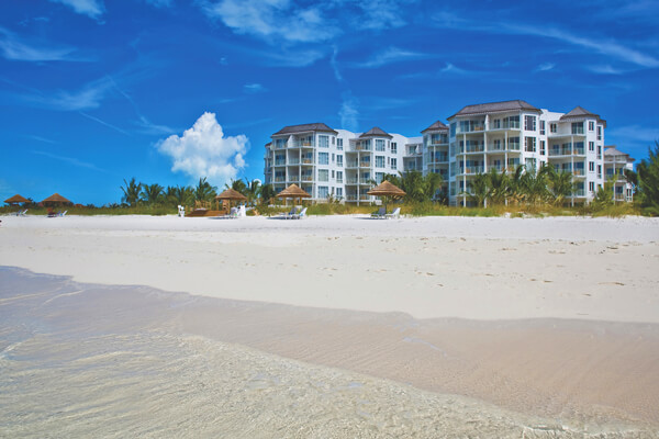 The West Bay Club from Grace Bay Beach