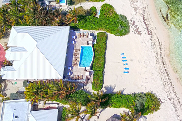 Aerial view of Coral Kai Villa on Rum Point Grand Cayman