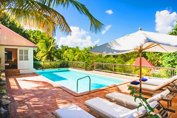 Private pool at Bord de Mer Villa