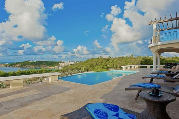 Oceana Villa is located on a hill above Crocus Bay