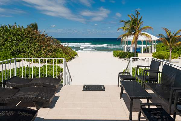 Literally steps to the beach at Cayman Sands Villa