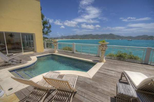 Villa Tara has a private plunge pool that looks directly out to the caribbean
