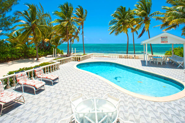 The pool at Kai Conut is just steps away from the beach