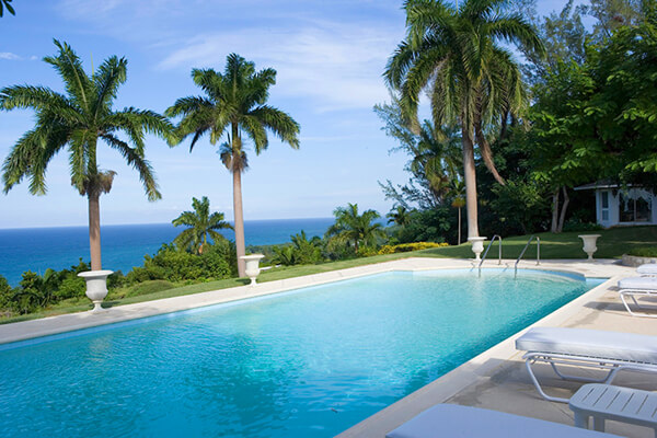 Lush tropical surroundings with amazing ocean views await at Folly Villa