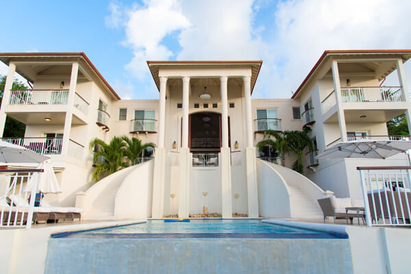 Villa Hall sits on the tropical hillside over Gros Islet