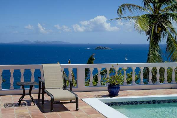 Amazing ocean views and out to neighboring islands - St. Barts  - from Seascapes Villa