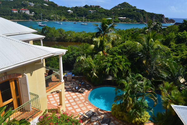 Views into Chocolate Hole Bay from Reefside Villa