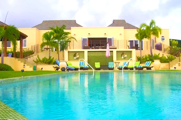 La Maison Michelle is located in Lancaster, just west of the Royal Westmoreland golf course