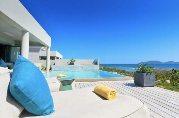 Soalire Villas are located on Pelican Bay with a beautiful stretch of sandy beach
