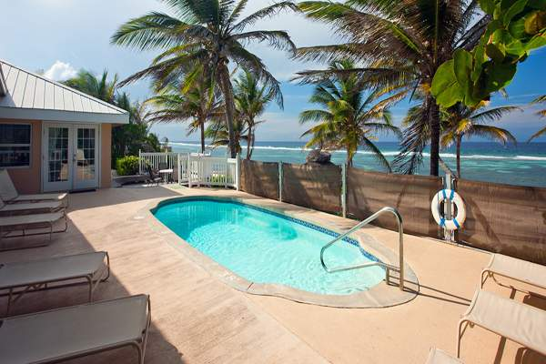 Sea Grape Villa sits just on the beach