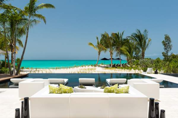 Amazing beachfront pool at Awa Villa