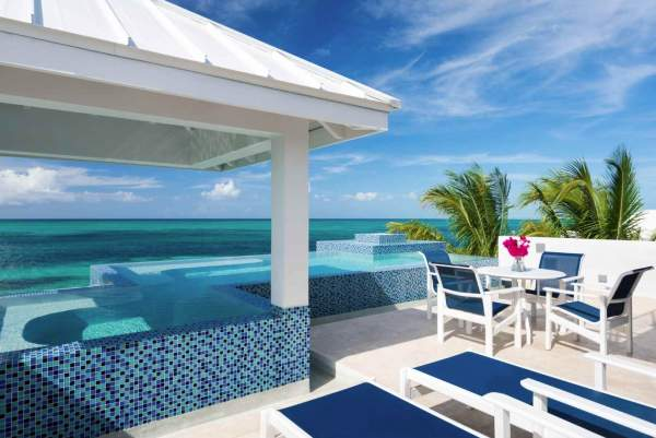 Plum Wild Villa is located on Grace Bay Beach