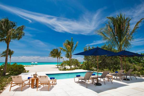 Hawksbill Beach House has a private beachfront pool