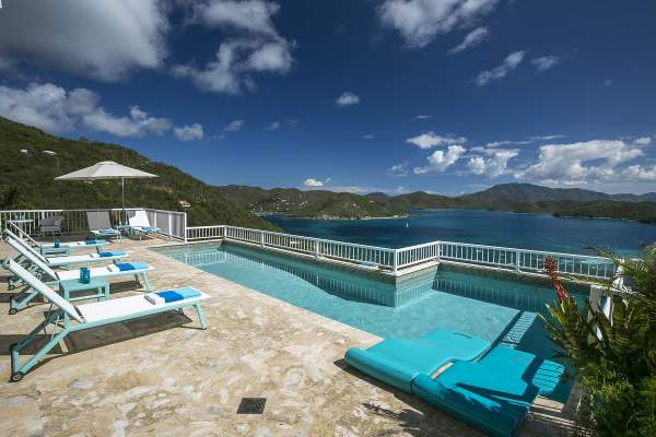 View of Coral Bay from the villa pool area