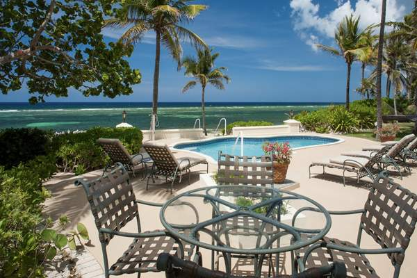 Gypsy Villa has a beautiful beach front private pool