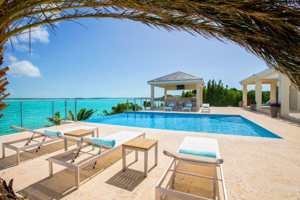 A private water front pool with beautiful views await you at Villa Capri
